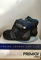 Ботинки зимние для мальчика PRIMIGI синие с серым SIX-E