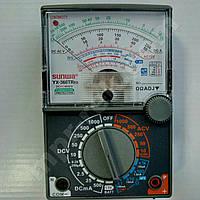 Мультиметр аналоговый SUNWA YX-360TRES (1000В, 500мА, 2МОм, hFE, прозвонка,тест батарей)
