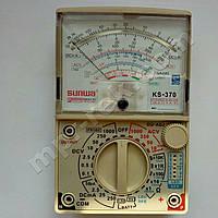 Мультиметр аналоговый SUNWA KS-370 (1000В, DC250мА, 20МОм, hFE, тест батарей)