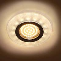 Декоративный светодиодный светильник Feron 8989-2 белый серебро с LED подсветкой
