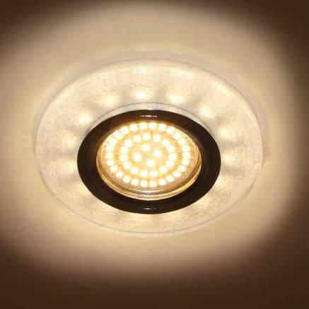 Светильник встраиваемый с LED подсветкой Feron 8989-2 белый серебро под лампу Mr16, фото 2