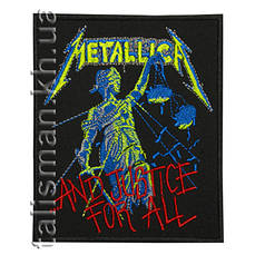 Нашивка с вышивкой METALLICA And Juctice For All