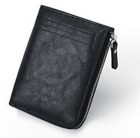 Чоловічий гаманець SUNROZ Fashion Style із захистом від сканування RFID Чорний (SUN3531)