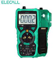 Мультиметр ELECALL МК 72 (True RMS, DC/AC, NCV) с термопарой и фонариком, фото 1