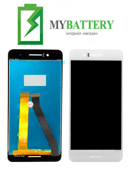 Дисплей (LCD) HTC 728G Desire Dual Sim с сенсором белый