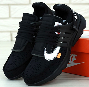 Мужские Кроссовки Off-White x Nike Air Presto, найк аир престо черные