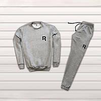 c85b7fc47bb59b Мужской спортивный костюм, чоловічий костюм Reebok (Серый+черный лого),  Реплика