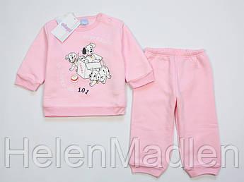 Пижама Ellepi Disney Baby хлопковая теплая для девочки 74 см розовая BI2700