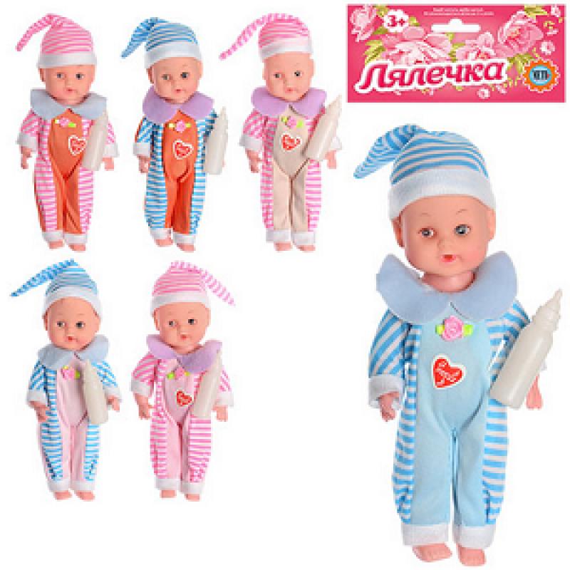 🔥✅ Детская игрушка Пупс 8518 музыкальный, кукла звуковая с бутылочкой