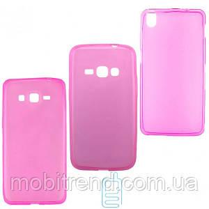 Чехол силиконовый цветной HTC Desire 616 розовый