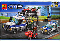Конструктор Bela Cities Ограбления трейлера автовоза 10658, фото 1