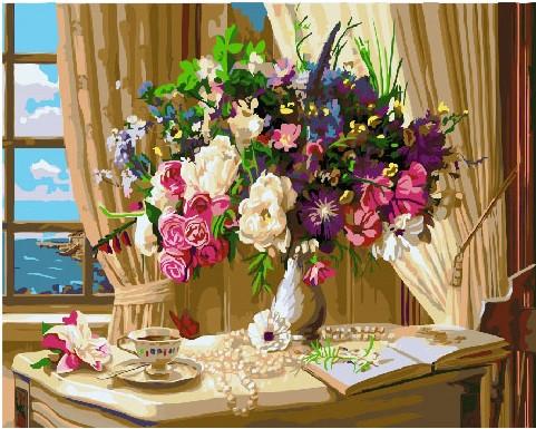 Картина по номерам Натюрморт у окна, 40x50 см., Brushme