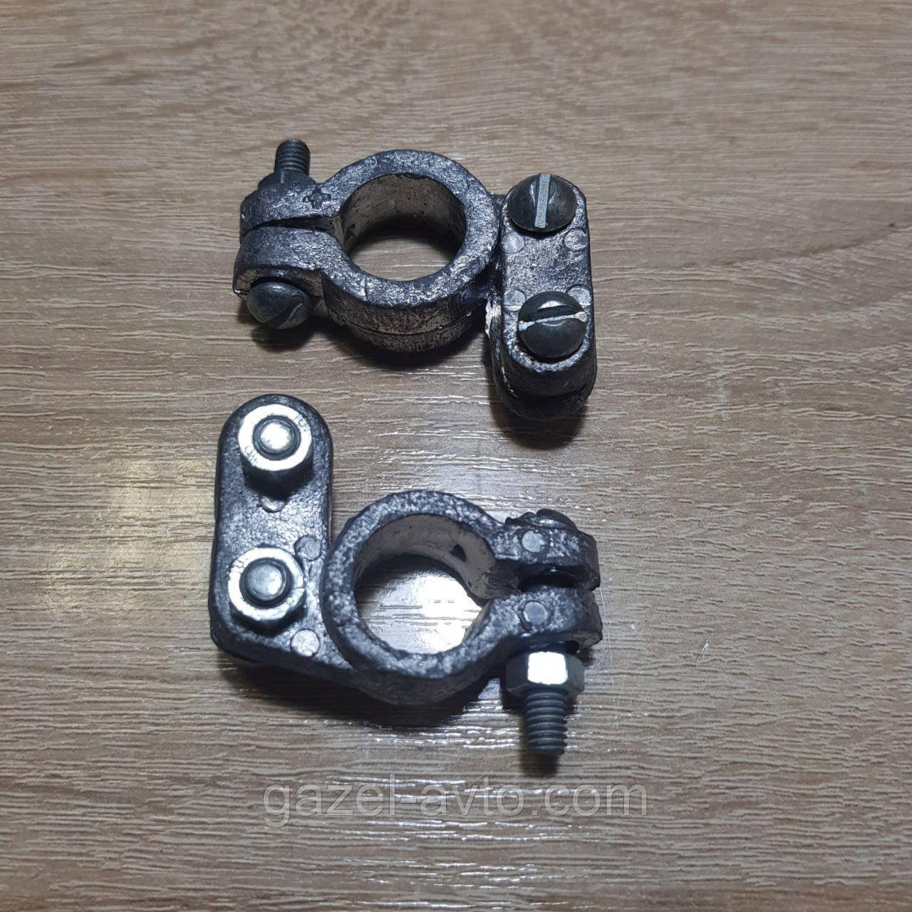Клемма аккумуляторная легковая,грузовая автомобильная, свинец (комплект 2 шт) (пр-во Турция)