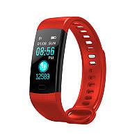 Смарт браслет Y5 красный, фитнес трекер с функцией измерения давления и пульса