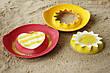 Чарівні формочки для ванни і пляжу Quut Sunny Love рожеві та жовті (170495), фото 5