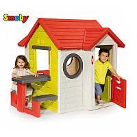 Игровой детский домик со столом Smoby 810401