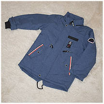Куртка весна  для мальчика синий меланж размеры 92 104 110 116, фото 3