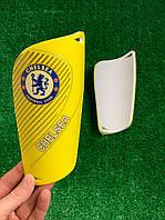 Щитки для футболу Челсі жовті (репліка), фото 1
