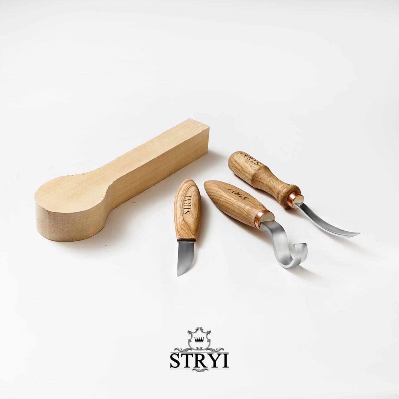 Набор стамесок STRYI для вырезания ложек, тарелок и других изделий от производителя