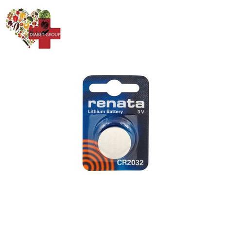Батарейка Renata CR2032 3V для глюкометров, фото 2