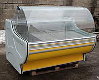 Холодильная витрина охлаждаемая «Росс Gold» 1.6 м. (Украина), Широкая выкладка 72 см, Б/у , фото 1