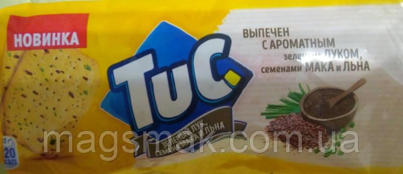 Крекер TUC зі смаком Зелений лук, насіння маку, льону 105г, фото 2