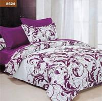 Евро постельное белье ранфорс фиолетовый вензель Вилюта Viluta  100 % хлопок