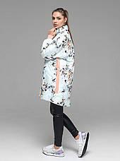 Яркая женская демисезонная куртка CW19C736CW c цветочным принтом - новая коллекция CLASNA 2019, фото 3
