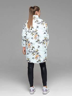 Яркая женская демисезонная куртка CW19C736CW c цветочным принтом - новая коллекция CLASNA 2019, фото 2