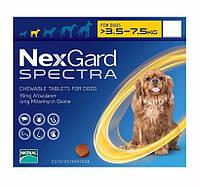 NexGard Spectra (Нексгард Спектра) таблетки для собак от блох и клещей S 3,5-7.5 кг, 3 шт