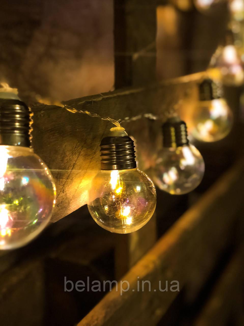 Гирлянда на батарейках «Радужные лампочки»
