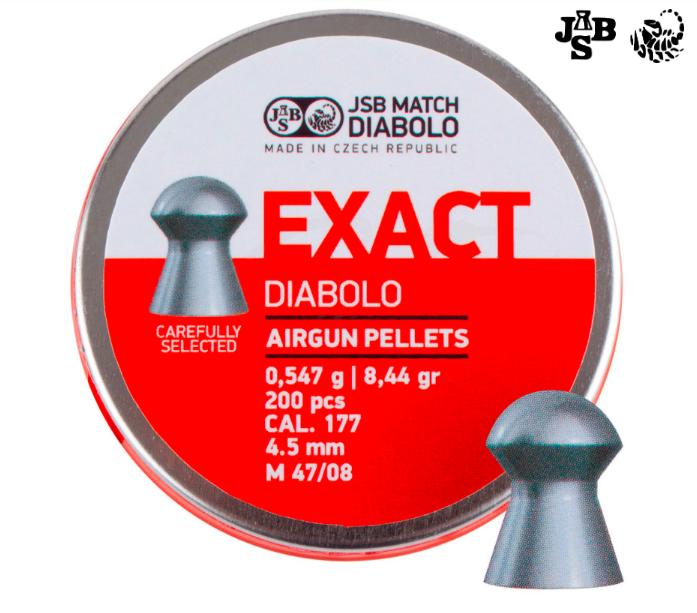 Пули пневм JSB Diabolo Exact 4.5мм 0.547г 200шт