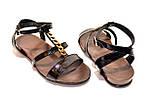 Босоножки женские кожаные черного цвета от производителя., фото 5