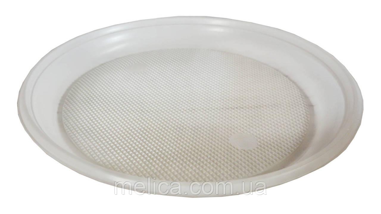Тарелки пластиковые одноразовые Андрекс Плоские 170 мм - 100 шт.