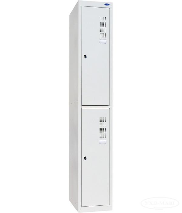 Шкаф одежный металлический на 2 ячейки (300х500х1800h)