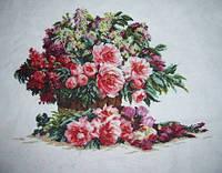 Набор для вышивки крестом Цветы. Размер: 36,7*28 см
