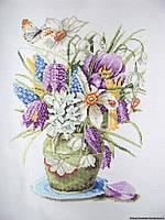 Набор для вышивки крестом Полевые цветы. Размер: 20*28,5 см