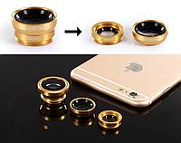 Набор объективов Primo Lens 4 в 1 для мобильных телефонов - Gold