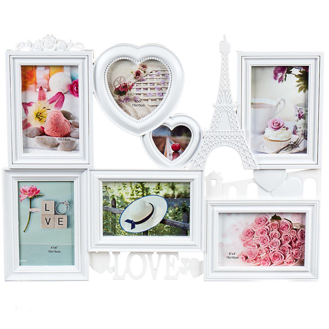 Фото рамка Joys home на 7 фото Love 51*40*2 см (192I/white)