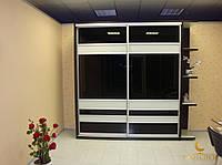Фасады купе комбинированные лакобель (для шкафов, гардеробных)