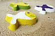 Волшебные формочки для ванны и пляжа STAR FISH (цвет зеленый + желтый) QUUT, фото 4
