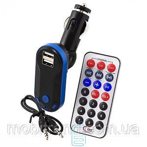 FM модулятор трансмиттер Bluetooth i9 черно-синий