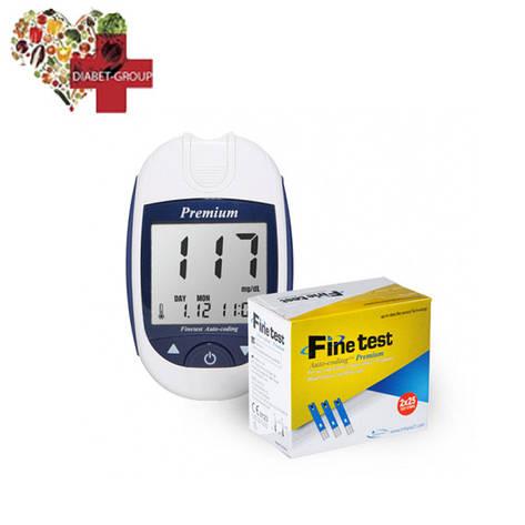 Глюкометр Finetest Premium (Файнтест Премиум) + 50 тест полосок, фото 2