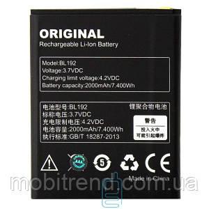 Аккумулятор Lenovo BL192 2000 mAh A680, A526, A590, A529 AAA класс тех.пакет