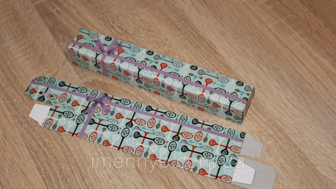 Красивая коробка для именной ложки на подарок
