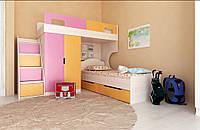 Двухъярусная кровать Рио без стола и полок Лион