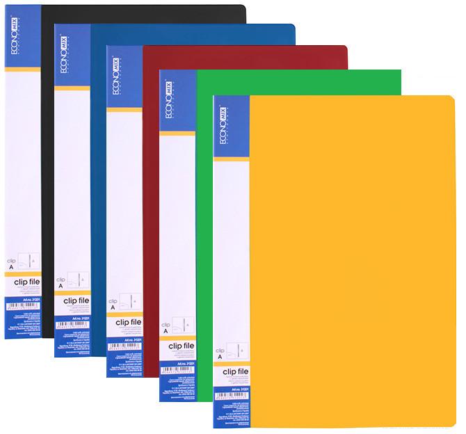 Папка А4 с 10 файлами Economix, ассорти
