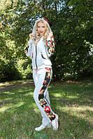 Удобный женский спортивный костюм с цветными вставками 3002