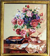 Набор для вышивки крестом Цветочный этюд. Размер: 26*30,6 см