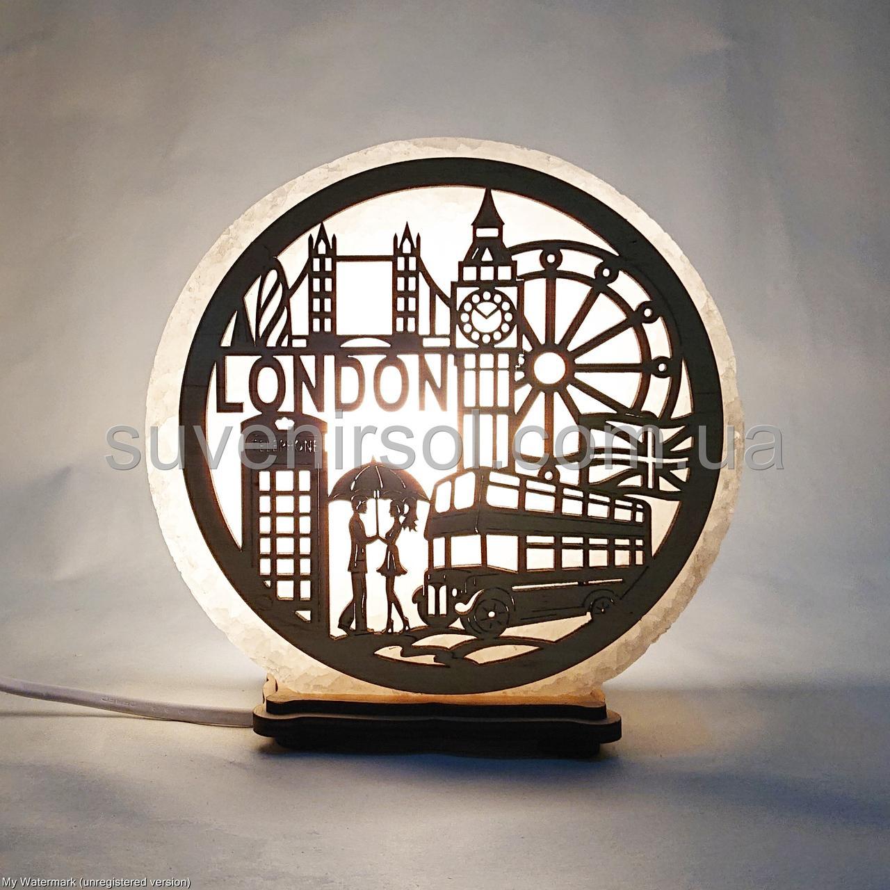 Соляной светильник круглый London